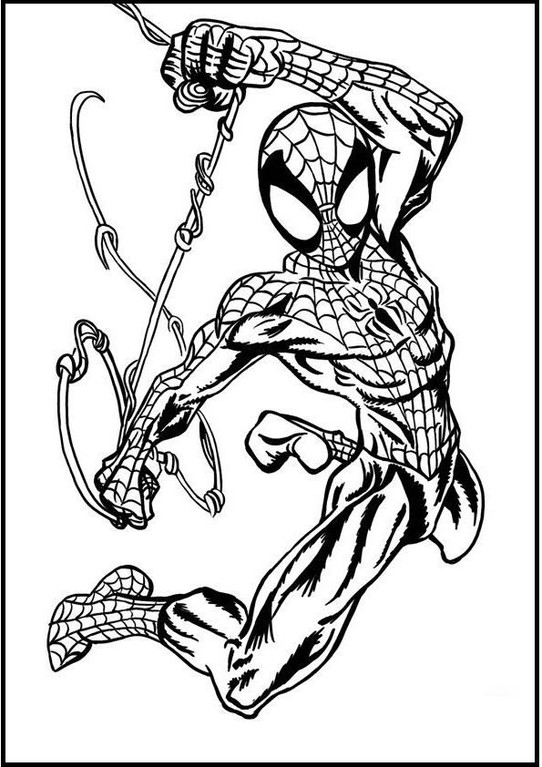 27 best Spiderman Coloring pages free online images on ...