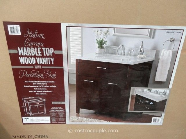 Lanza Products 36 Inch Italian Carrara Marble Top Wood Vanity Costco 6 Home Int Pinterest