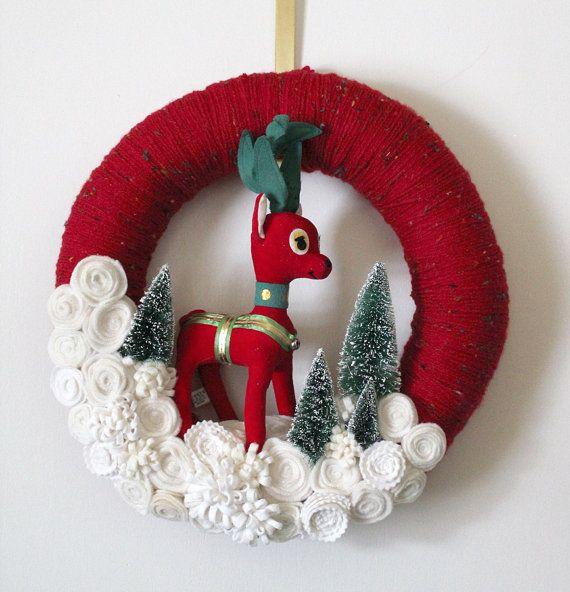Φτιάξε μόνη σου μοναδικά Χριστουγεννιάτικα στεφάνια
