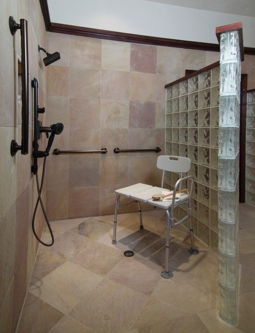 7 best images about aging in place on pinterest master for Handicap bathroom contractors