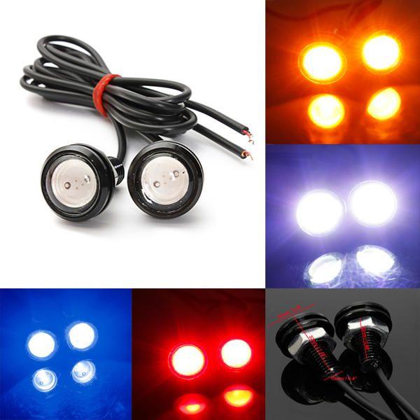 2X Red COB LED Eagle Eye Vehicle Daytime Running DRL Tail//Head Lights Backup 2W