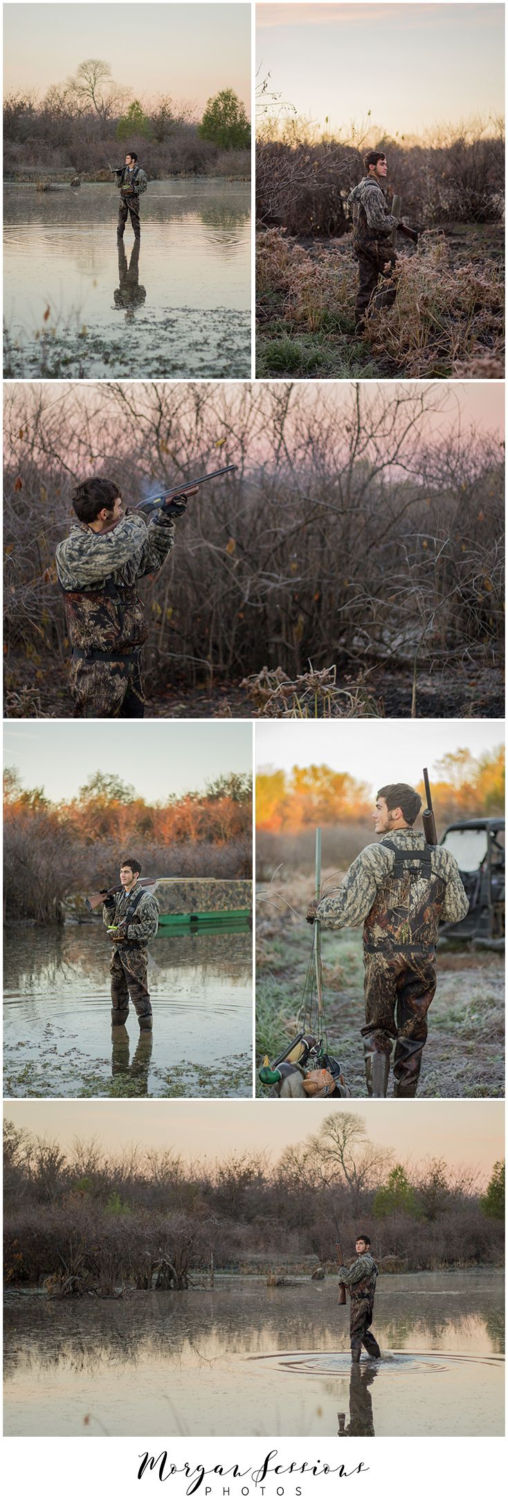 Senior pictures. senior guy. duck hunting. country boy seniors. Morgan Sessions Photos.