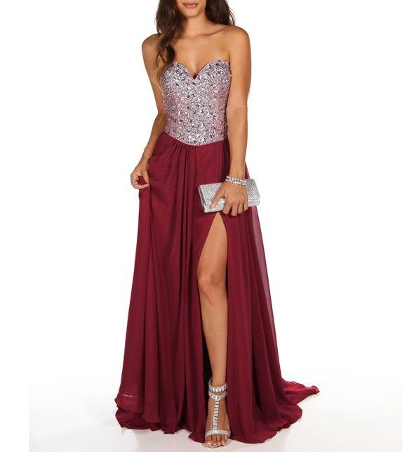 Celine- Wine Prom Dress