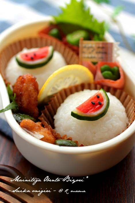 watermelon onigiri