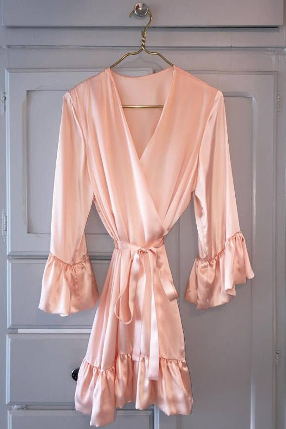 PURE SILK ELEGANT Dressing Gown  Pretty in Pink  Gorgeous