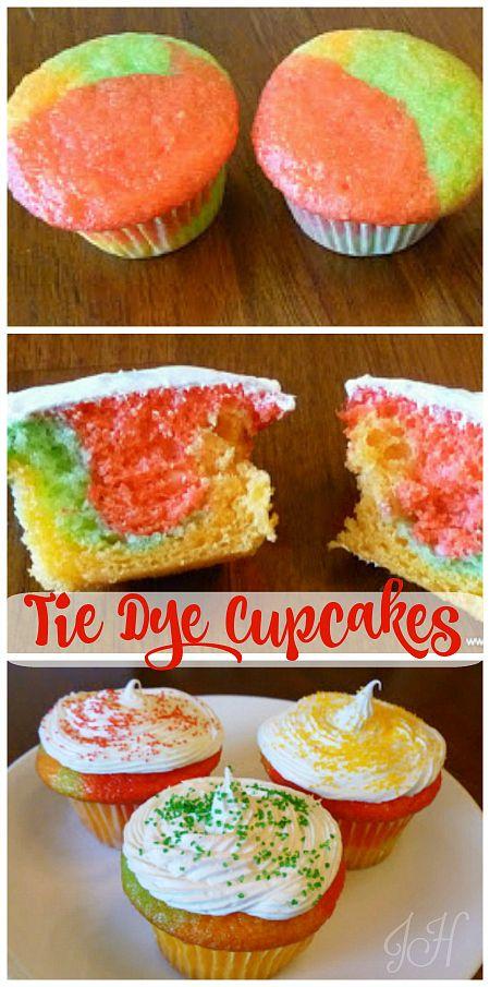 tie dye cake frosting instructions