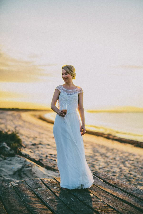 Hand beaded overtop with chiffon wedding dress.  JENNA - Dress by Janita Toerien - Photo by Hayley Takes Photos - www.janitatoerien.co.za (2).jpg