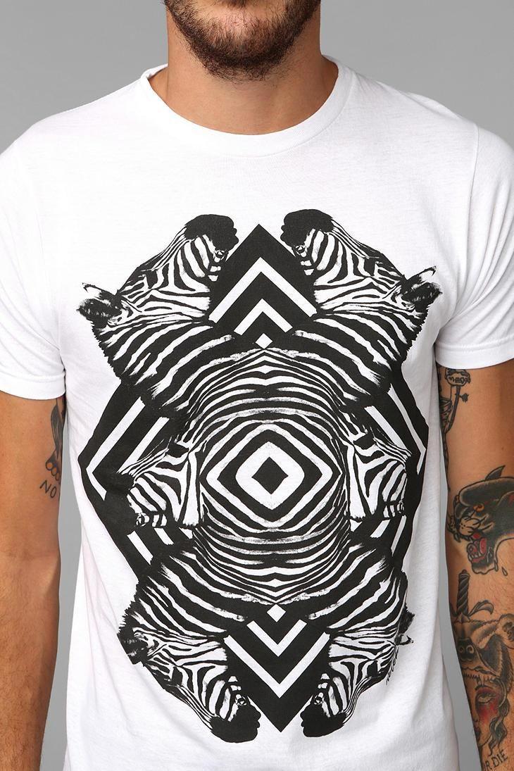 Zebra shirt design - Deter Zebra Reflection Tee Urbanoutfitters