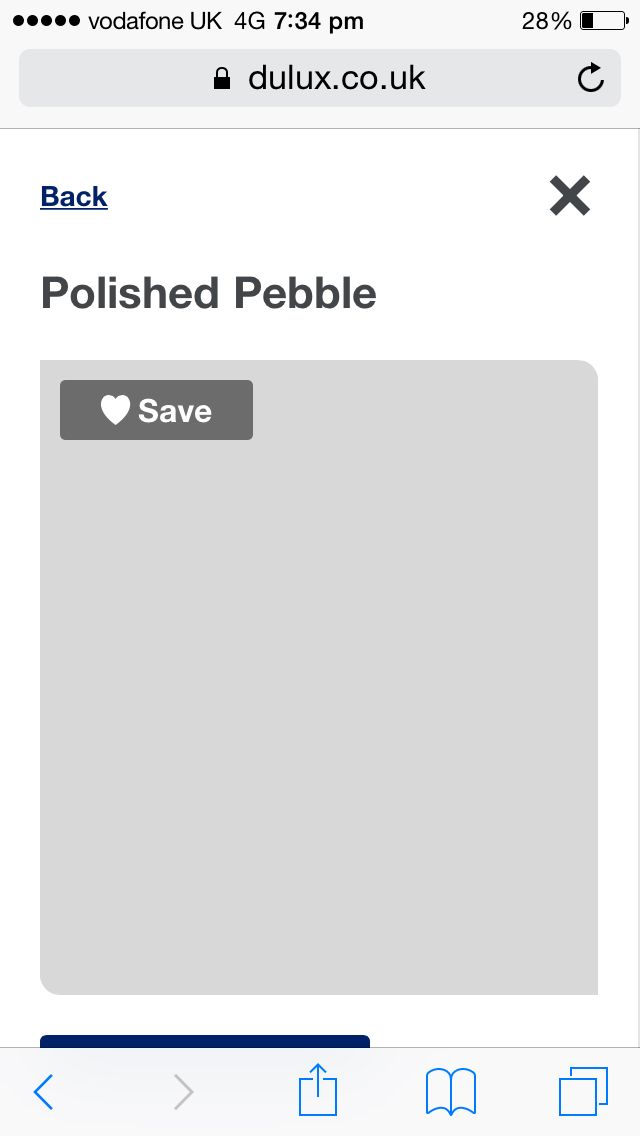 Polished pebble dulux endurance paint dining room
