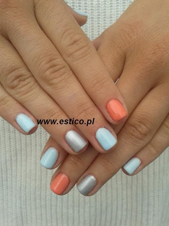 uv laq, pastel blue nails,