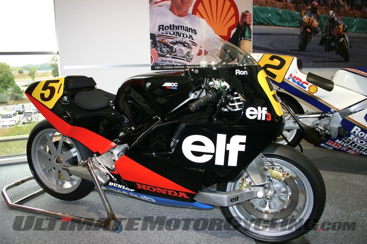 Rocket Ron Haslam's ELF Honda 500cc racebike. Great engineering exercise; poor race machine.