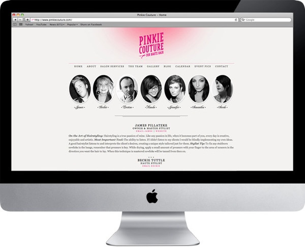 Pinkie Couture for Haute Hair by será será , via Behance