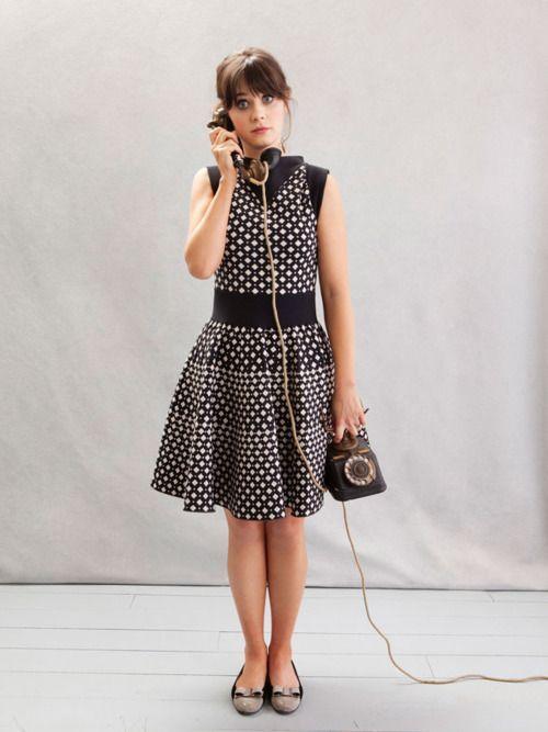 Zooey Deschanel Fashion Morning coffee (39 pho...
