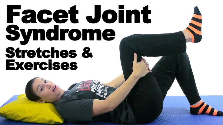 Facet joints in your spine are the ones that help make your back more flexible. They are the small joints that help you bend and twist. When they are inflamed or not working correctly, you can have a lot of back pain. These stretches and exercises will hopefully help. See Doctor Jo's blog post about this at: http://www.askdoctorjo.com/facet-joint-syndrome