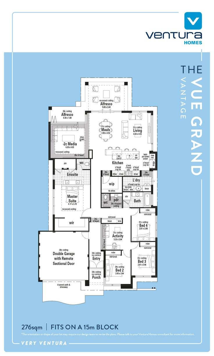 Display Home Perth - The Vue Grand is a spacious four bedroom, two bathroom home, boasting stylish good looks inside and out.