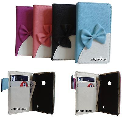 bow book pouch flip wallet card case amp screen protector