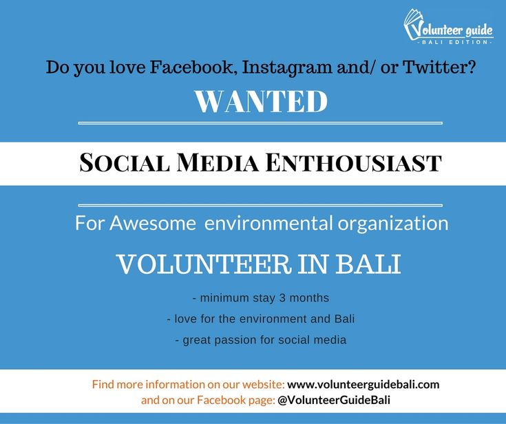Find over 40 responsible volunteer jobs in Bali, Indonesia on our website.