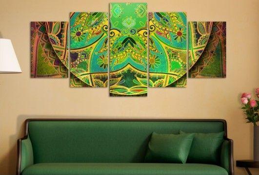 Cet été appartient aux mandalas ! Bimago vous recommande une décoration murales avec motif ethnique aux couleurs vives :) #tableau #tableaux #tableauplusieursparties #mandalas #motifethnique #bimago