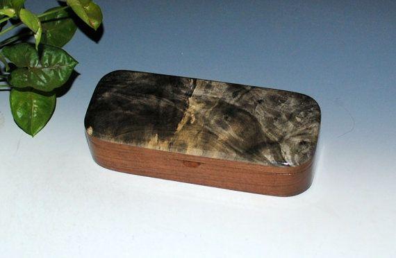 Handmade Wooden Pen Box in Black Walnut with Buckeye Burl - Small Jewelry Box by BurlWoodBox Burl Wood Box Small Wooden BoxHandmade Boxes by BurlWoodBox
