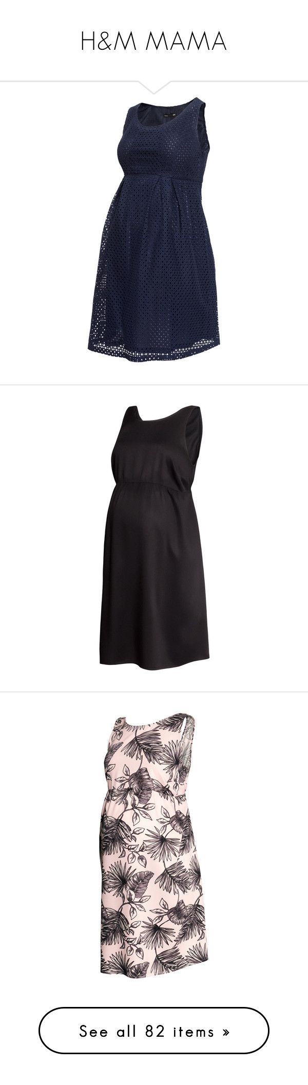 """H&M MAMA"" by alejaborrayo ❤ liked on Polyvore featuring maternity, dresses, mama, maternity clothes, maternity dress, dark blue, black, maternity dresses, baby and mat"