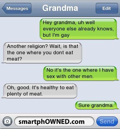 funny text message gay porn joke