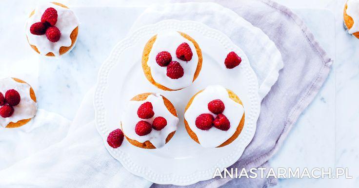Najprostsze babeczki z malinami | Ania Starmach