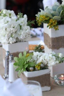 Flores centros de mesa bodas r sticas eventos for Decoracion rustica para bodas
