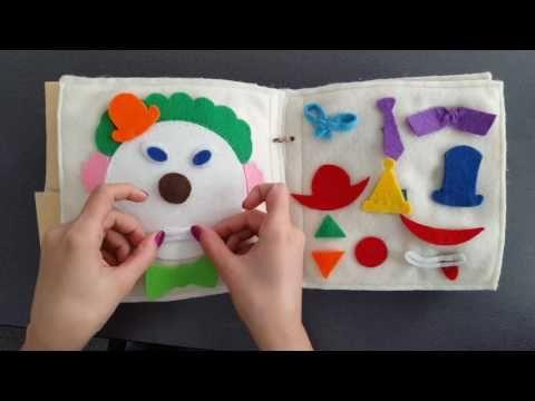 Cea mai frumoasa carte senzoriala din fetru cu activitati pentru copii Q...