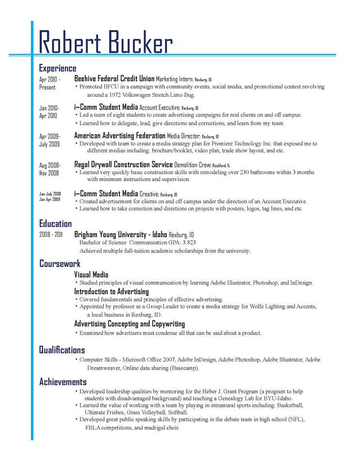 70 best Resume images on Pinterest Resume ideas, Gym and Resume - what does a good resume resume