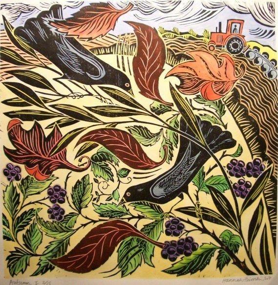 The Wind. Hannah Firmin , lino cut