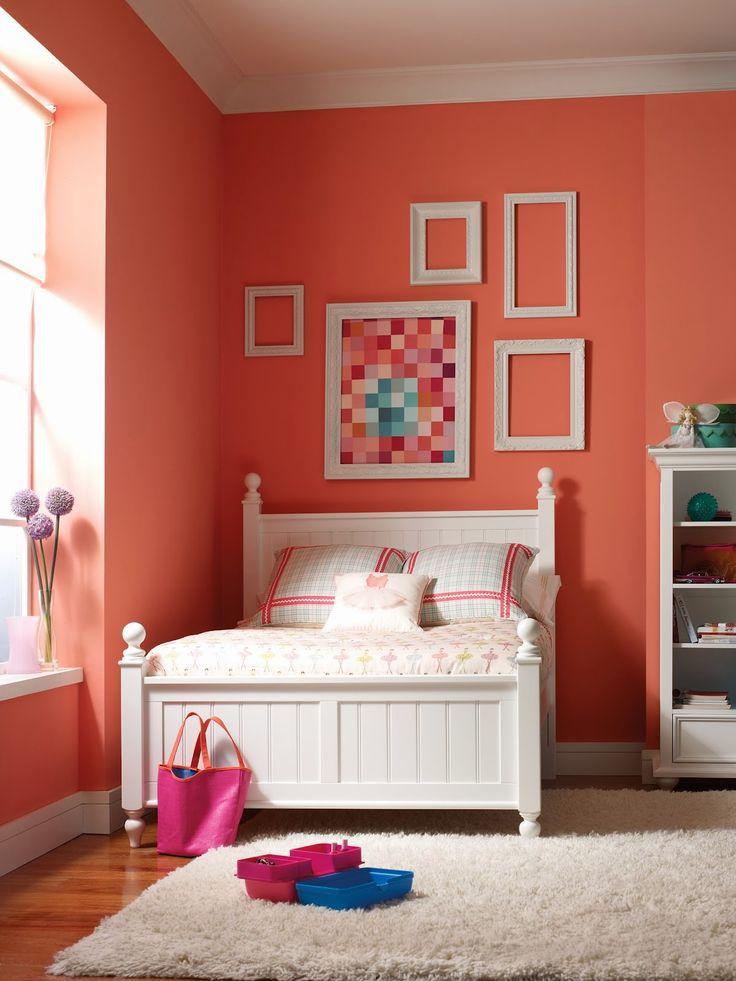 Habitaciones para adolescentes color coral - Dormitorios colores y estilos