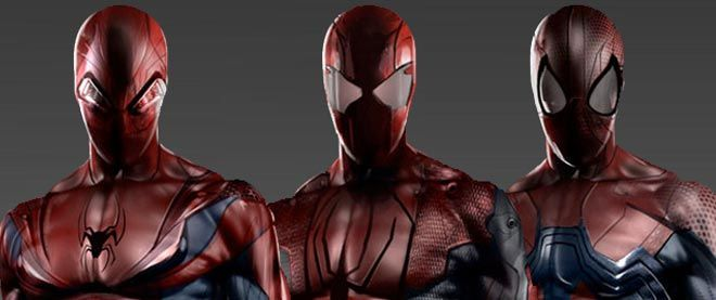 Three pieces of concept art have surfaced online which give us three very different (and unused) Spider-Man suit designs for Marc Webb's The...