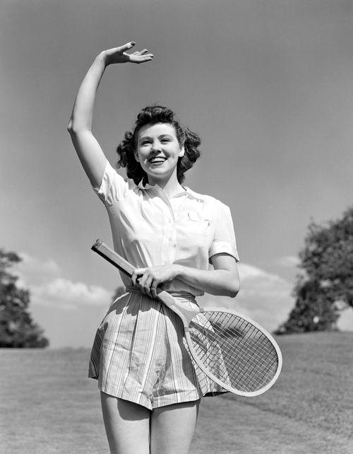 Over here. 1940's Women's Tennis Fashion. Via http://www.femina.ch