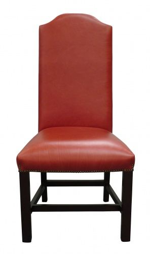 President red leather dining chair