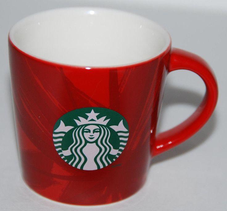 Starbucks Christmas 2014 Demitasse Red Mini Mug 3oz Espresso Coffee Tea Mermaid #Starbucks