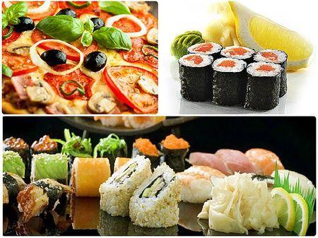 Скидка 50 на суши, роллы и пиццу от кафе Факультатив