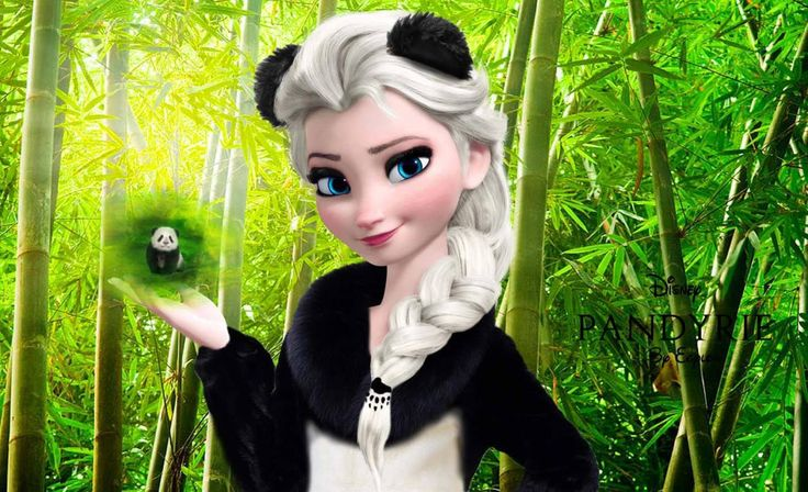 #panda  #animal  #disney  #frozen  #elsa  its panda elsa!!!!