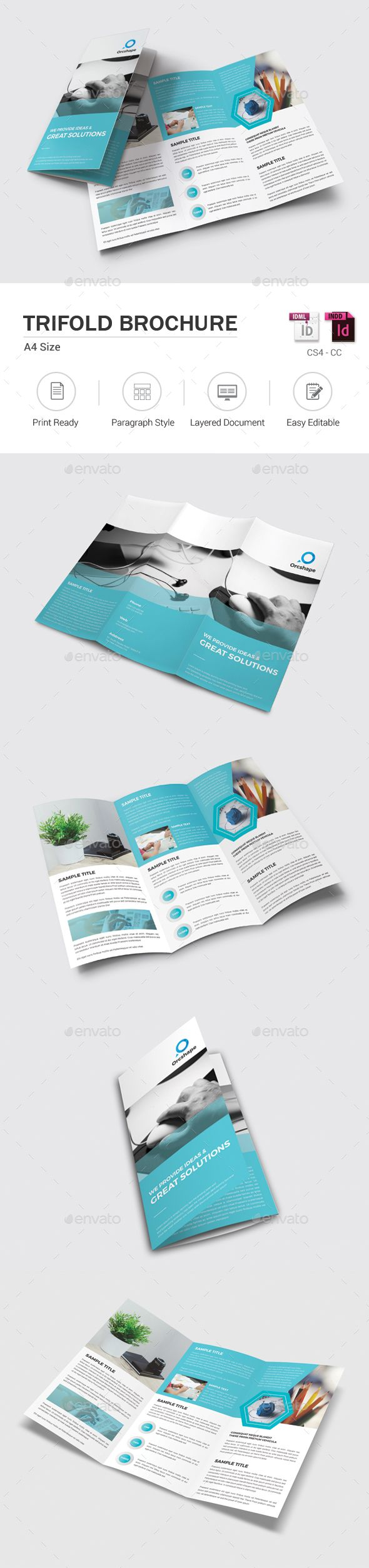 Corporate Trifold Brochure Template InDesign INDD