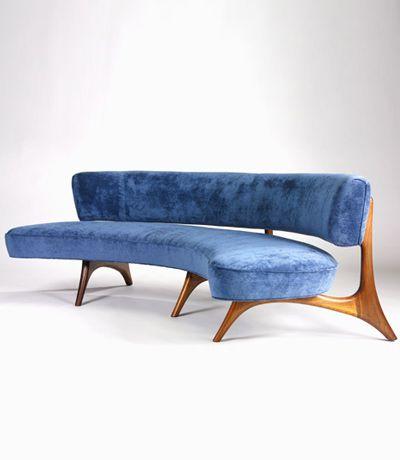 Vladimir Kagan-Floating Curved Sofa