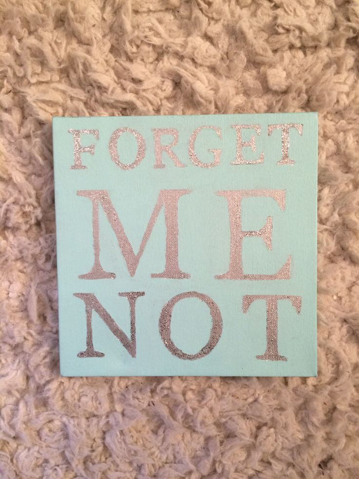 Alpha Phi UConn Big & Little Crafts! Forget Me Not Canvas #CraftyPhis #AlphaPhiUConn