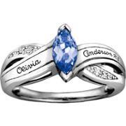 Keepsake Girl's Marquis Bypass Fashion Class Ring