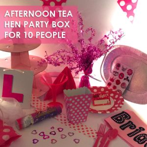 Afternoon Tea Hen Party Box Henparty Hennight
