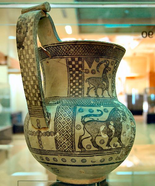 Phrygian vessel (ca. 8th/7th c. BCE) from the tumulus tomb P of the archaelogical site of Gordium, capital city of the kingdom of Phrygia, located near the modern turkish village of Yassıhüyük, Anatolia. Phrygians are known for the legendary king Midas