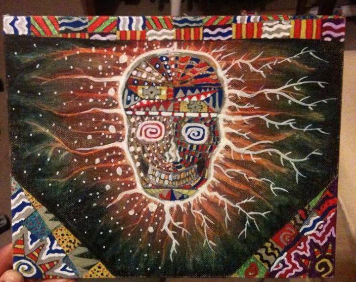 my skull painting