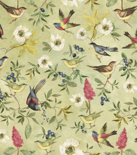 Susan Winget Premium Quilt Print Botanical Meadow Song