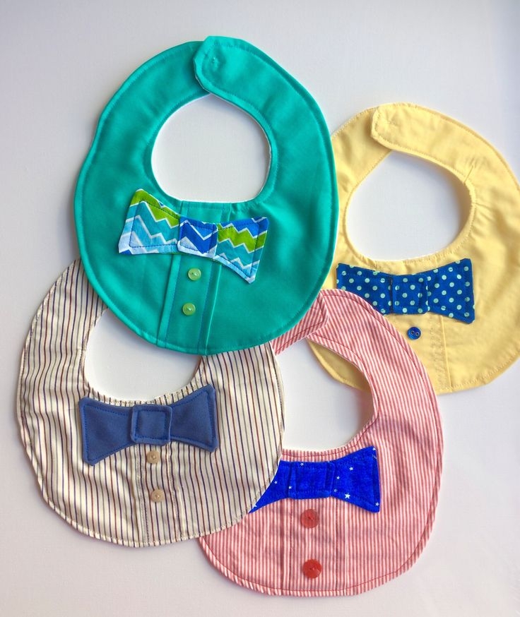 A personal favorite from my Etsy shop https://www.etsy.com/ca/listing/509260949/colourful-baby-boy-bibs-with-bow