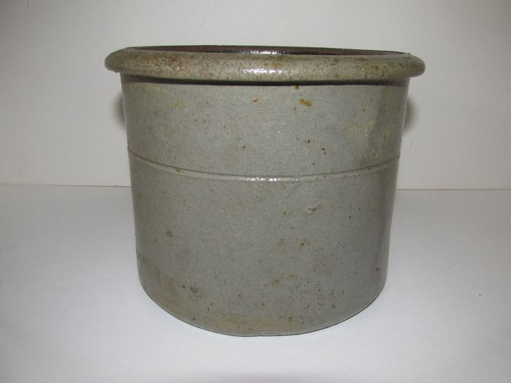 Antique Stoneware Crock, Small Size, Salt Glazed #Americana #unknown