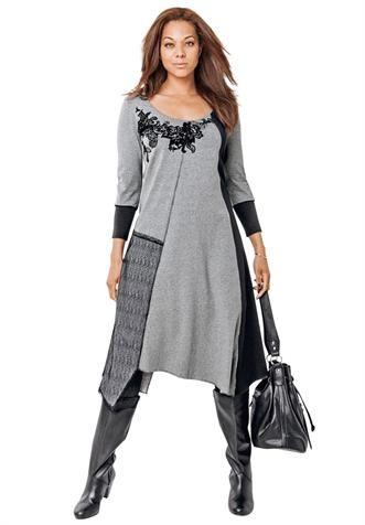 Jessica London Plus Size Clothing | Plus Size Asymmetrical Hem Dress image
