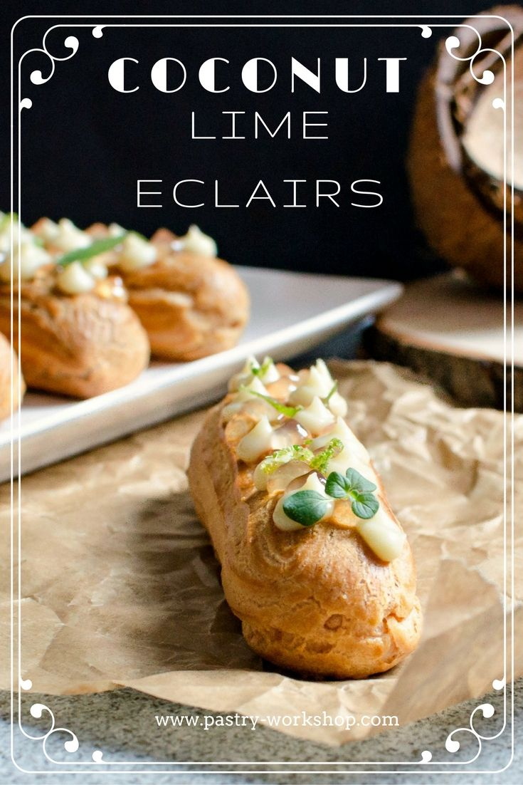 Coconut Lime Eclairs www.pastry-workshop.com