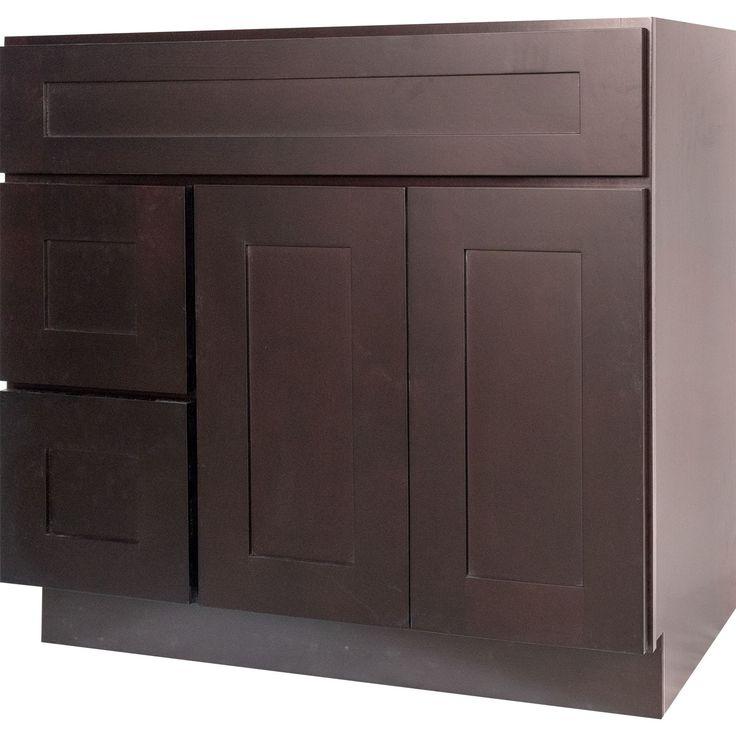 36 Inch Dark Espresso Shaker Bathroom Vanity Cabinet R 36 Inch Bathroom Vanity Bathroom